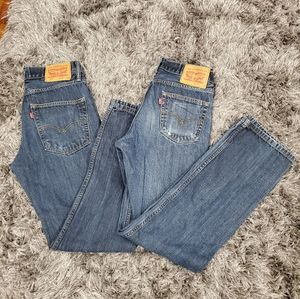 Pre-loved Men's Bundle of 2 Levi's 514 size 30x32